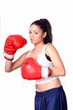 Boxeador de la muchacha Fotos de archivo