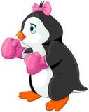 Boxeador de la muchacha del pingüino Fotografía de archivo