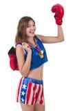 Boxeador de la mujer Imágenes de archivo libres de regalías