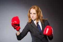 Boxeador de la mujer fotografía de archivo libre de regalías