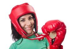 Boxeador de la mujer Fotos de archivo libres de regalías