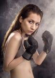 Boxeador de la mujer Fotografía de archivo