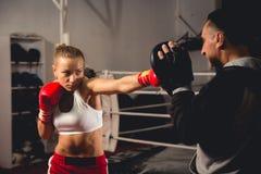 Boxeador de la mujer Foto de archivo