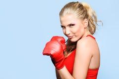 Boxeador de la señora Fotografía de archivo libre de regalías