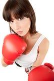 Boxeador de sexo femenino Imagen de archivo libre de regalías