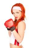 Boxeador de sexo femenino Imágenes de archivo libres de regalías