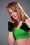 Boxeador de sexo femenino Foto de archivo libre de regalías