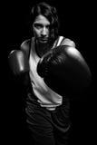 Boxeador de sexo femenino Fotografía de archivo