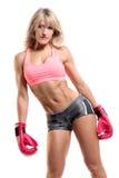 Boxeador de sexo femenino apto Foto de archivo libre de regalías