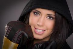 Boxeador de sexo femenino hermoso Imagen de archivo