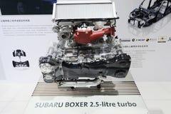 Boxeador de Subaru motor de turbo de 2.5 litros Foto de archivo libre de regalías