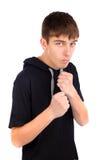 Boxeador del adolescente Imágenes de archivo libres de regalías
