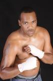 Boxeador del afroamericano Imágenes de archivo libres de regalías