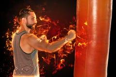 Boxeador del fuego imagen de archivo