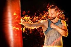 Boxeador del fuego foto de archivo libre de regalías