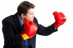 Boxeador del hombre de negocios Imagen de archivo