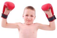 Boxeador del niño pequeño Fotos de archivo