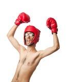 Boxeador divertido imagen de archivo libre de regalías