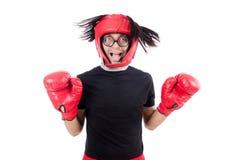 Boxeador divertido fotografía de archivo
