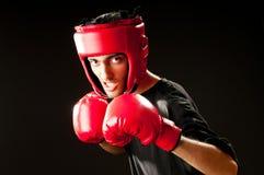 Boxeador divertido aislado Fotos de archivo libres de regalías