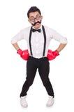 Boxeador divertido aislado Foto de archivo libre de regalías
