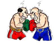 Boxeador dos Stock de ilustración
