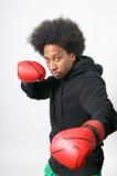 Boxeador en ataque Fotografía de archivo