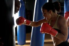 Boxeador en la gimnasia Fotografía de archivo