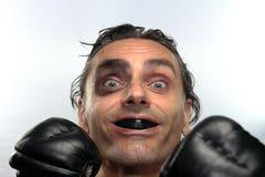Boxeador feliz Fotografía de archivo