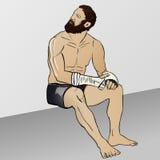 Boxeador griego del ejemplo cómico fotografía de archivo libre de regalías