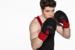 Boxeador joven Fotos de archivo libres de regalías