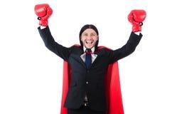 Boxeador joven del hombre de negocios Fotografía de archivo