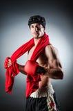 Boxeador muscular fotos de archivo