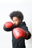 Boxeador negro Imágenes de archivo libres de regalías