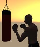 Boxeador por la mañana Imagen de archivo libre de regalías