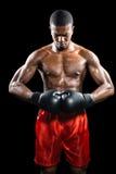 Boxeador que presenta después de fracaso Imagen de archivo