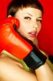 Boxeador rojo Imágenes de archivo libres de regalías
