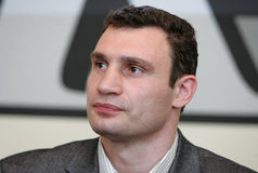 Boxeador Vitali Klitschko Fotos de archivo libres de regalías
