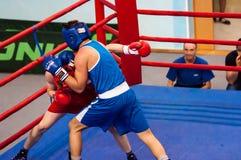Boxeadores de la lucha, Orenburg, Rusia Imagen de archivo