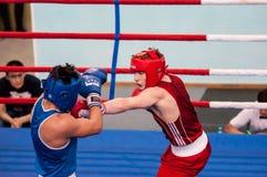 Boxeadores de la lucha, Orenburg, Rusia Fotografía de archivo libre de regalías