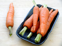 Boxed carrots from supermarket Stock Photography