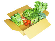 Boxed Fruit and Vegetables Stock Images