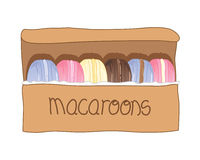 Boxed macaroons Royalty Free Stock Photography