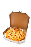 Boxed pizza Royalty Free Stock Images