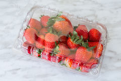 Boxed Strawberries Stock Image