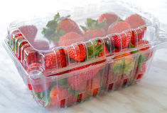 Boxed Strawberries Stock Photos