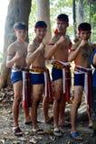 Boxende und tanzende phu thailändische Art thailändischer Leute Phu für Show trave Lizenzfreies Stockbild