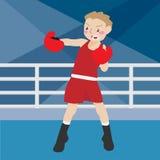 Boxender athletischer Sport Lizenzfreie Stockbilder