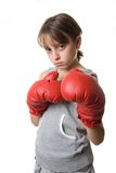 Boxeo adolescente joven Imágenes de archivo libres de regalías