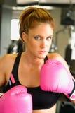 Boxeo con los guantes rosados 3 Fotografía de archivo libre de regalías
